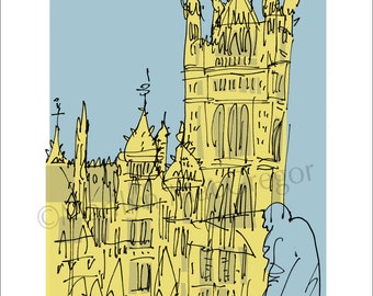 London Parliament fine art print in 2 sizes