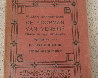 William Shakespeare, The merchant of Venice, Dutch translation from 1913