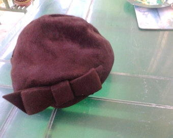 BERET Brown VELVET US