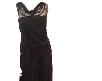Tracy Feith Black Silk Dress (Size 6P)