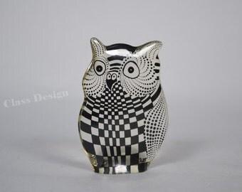 Abraham Palatnik Lucite owl Mid Century Figurine - 60s