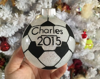 Soccer Ornament - Personalized