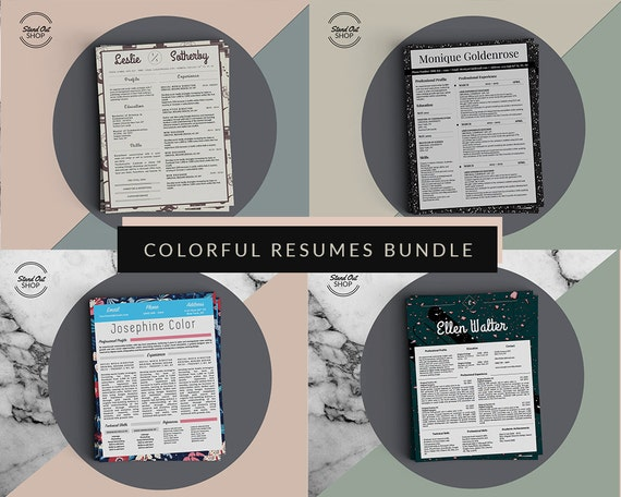 4 colorful and creative resume templates for microsoft word