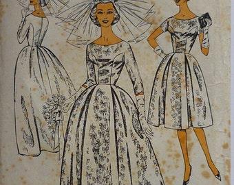 "Vintage Sewing Pattern,. Blackmore patterns 9328. Wedding dress, bust 36"""