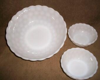 Anchor Hocking Milk Glass Bowls