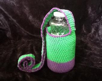 Full Color Hemp Water Bottle Holder