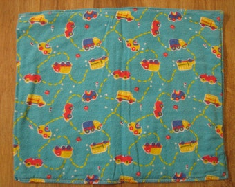 Baby Burp Cloth / Pet Carrier Liner / Cute Cars
