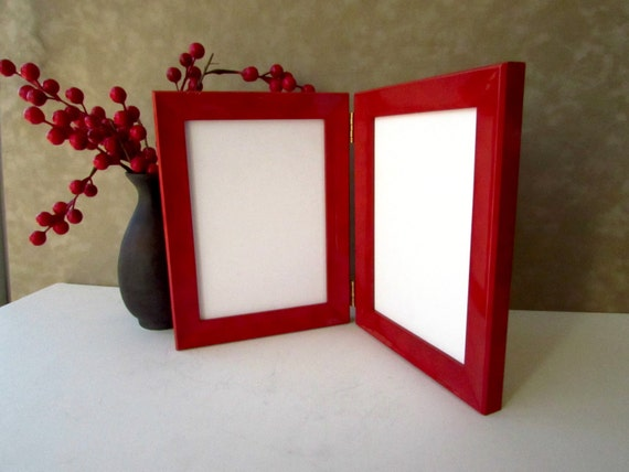 Double Photo Frame 5 Quot X 7 Quot Elegant Picture Frame Red