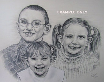 Custom made pencil drawing-11x14-Example only