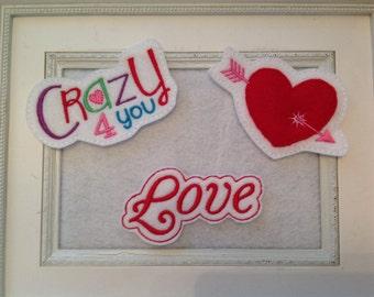 Valentine  Sliders Your Choice, Headband