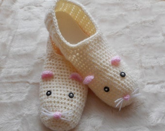 Ladies mouse slippers size UK 5-6