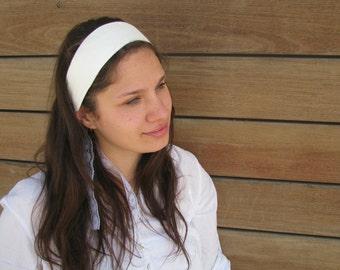 WHITE honeycomb headband,headband,hairband,head covering,floral headband,1950 style
