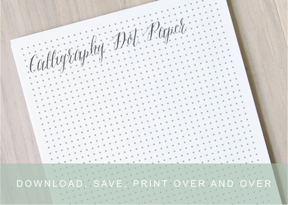 Light Gray Dot Paper Printable Calligraphy Practice Paper