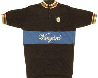 80s vintage Deadstock Vangard cycle jersey made in Denmark