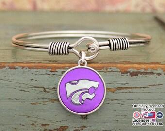 Kansas State Wildcats Iridescent Round Bracelet