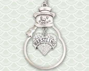 Wrestling Heart Christmas Ornament