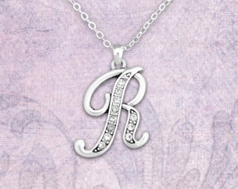 R Initial Necklace - 54352