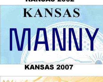 Personalized Kansas Refrigerator Magnet State License Plate Replica