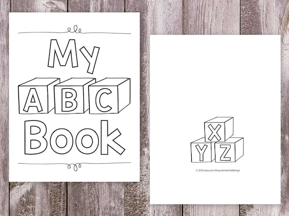 My Alphabet Book Printable Cover : Alphabet coloring books printable pages my