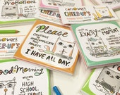 Cheer-Ups - Set of 12 Tiny Postcard Greetings Cubicle Accessories Cubicle Decor Gift For Coworker Cubicle Wall Decor Office Sympathy