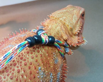 REPTILE HARNESS ADJUSTABLE (one-size-fits-all) Rainbow