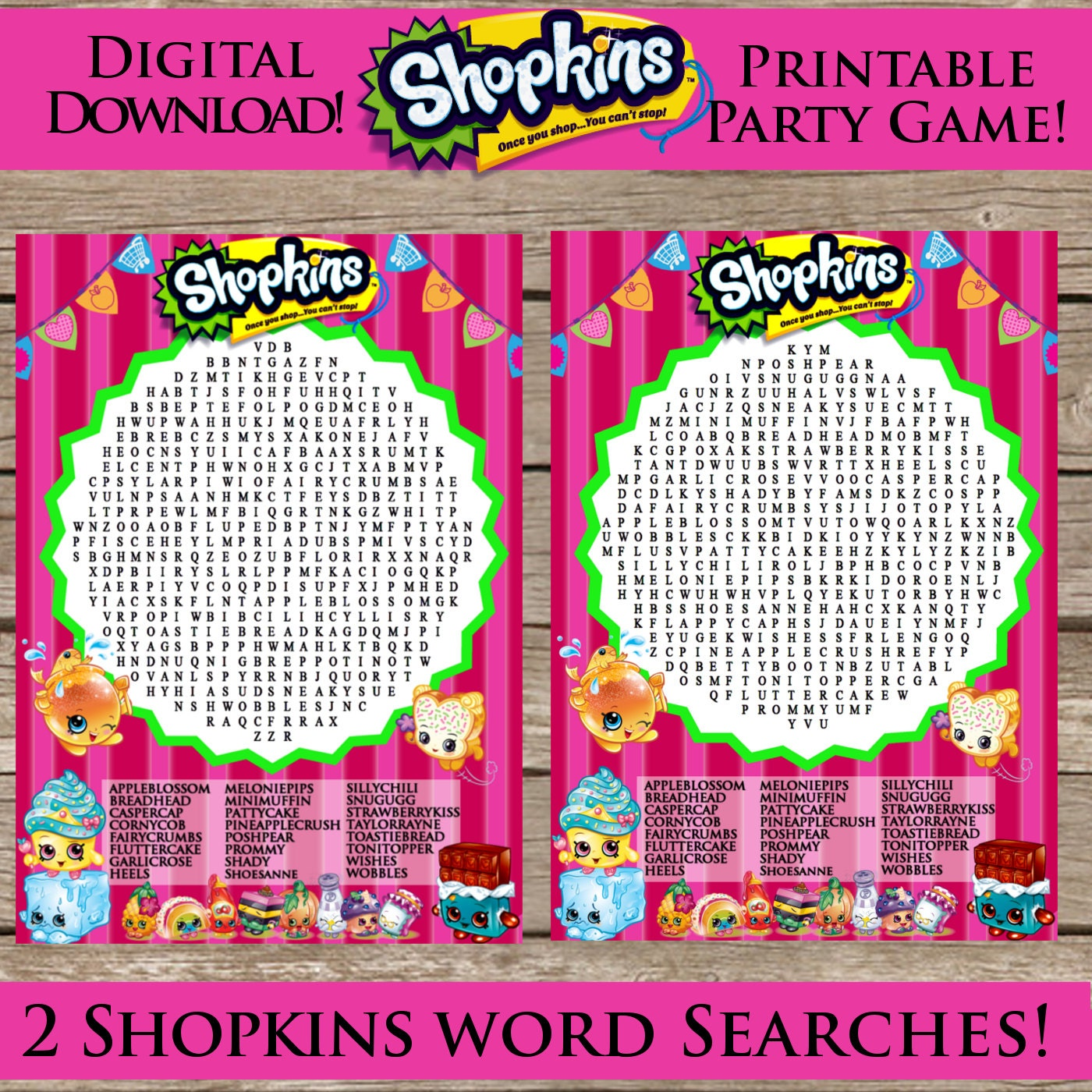 Shopkins Word Search