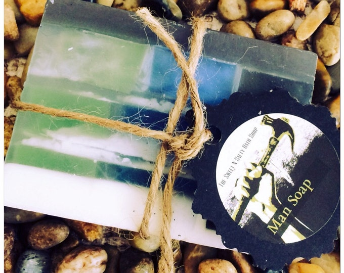 "The Perfect Man Scented Olive Oil and Shea Butter ""Man Soap"""