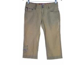 Diesel Womens Shorts Size 14 W28 Mustard Yellow Cotton
