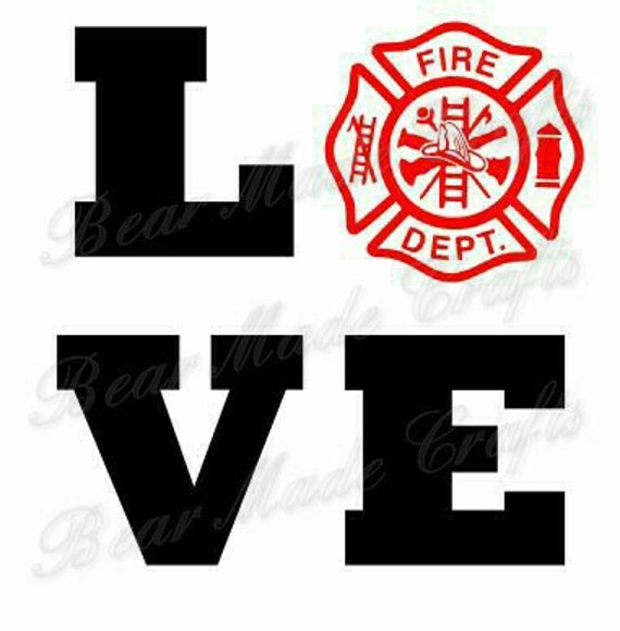 Download Set of 4 Firefighter SVGs, I Love My Firefighter, HTV ...