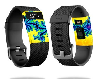 Skin Decal Wrap for Fitbit Blaze, Charge, Charge HR, Surge Watch cover sticker Fractal Works