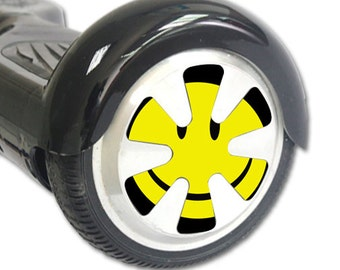 Skin Decal Wrap for Hoverboard Balance Board Scooter Wheels Smiley Face