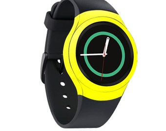 Skin Decal Wrap for Samsung Gear S2, S2 3G, Live, Neo S Smart Watch, Galaxy Gear Fit cover sticker Solid Yellow