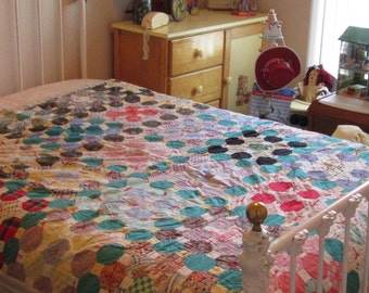 Antique Multi-colored Quilt