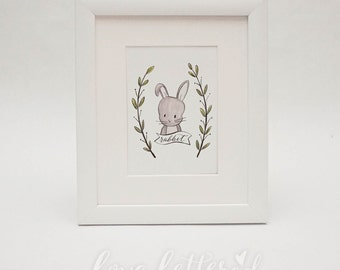 Rabbit  |  Woodland Creature Print