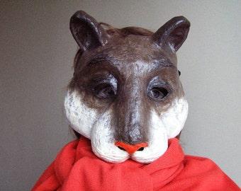 Masquerade mask Paper mache mask Animal mask Squirrel mask Chipmunk mask Fancy dress Party mask Face mask