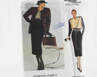 Vogue Jacket, Blouse and Skirt Pattern, UNCUT Sewing Pattern, V1468, Size 12
