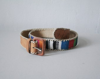 Vintage multicolored boho belt