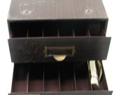 vintage metal parts cabinet 2 drawer drawers watch watchmaker storage
