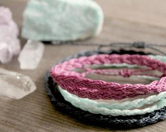 Braided Bohemian Bracelet, Beachy Boho indie Bracelet, Beautiful Macrame Plaited Bracelet, Summer Festival Jewellery, Indie Jewellery