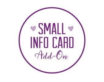 Custom Small Information Card Printable