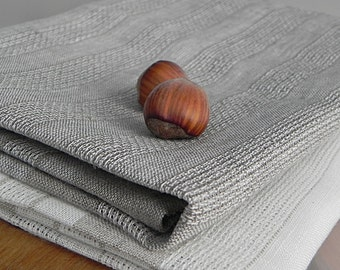 Linen Towels Tea Towels Kitchen Towels Eco Linen Towels Washed Burlap Dish Towels Organic Towels Grey White Towels Set of 2 Towels Natural