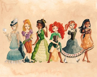 Steampunk Princesses Series II PRINT