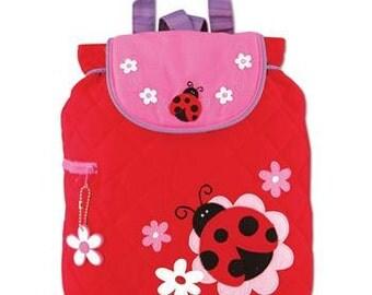 Personalized Stephen Joseph Toddler Quilted Ladybug Backpack, Kids Backpack, Children's Backpack, Preschool Backpack.