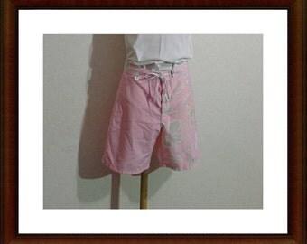 Women Shorts/Floral Shorts/Vintage 80s Shorts/follow the sun