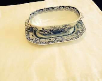 Spode Gravy Boat and Saucer