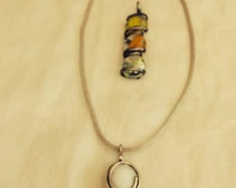 Sterling Silver Mesh Necklace With Two Pendants