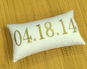 Wedding Date Pillow 30%OFF Sale Customized Established Date Pillow Save The Date Wedding Anniversary Birthday Shower Gift Love Gift