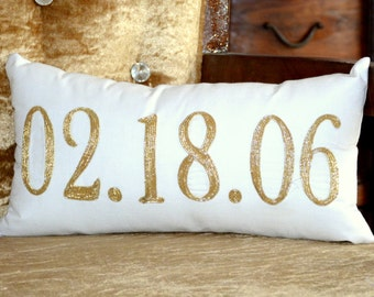 Number Pillow Etsy