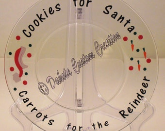 Christmas Cookie & Carrot Plate