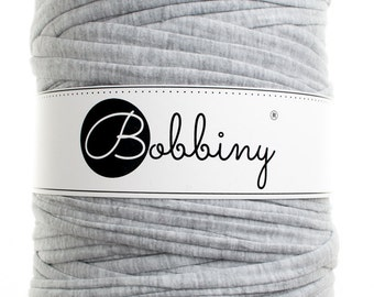 Gray t-shirt yarn, trapillo, trapilho, recycled cotton 131yd (120m) long